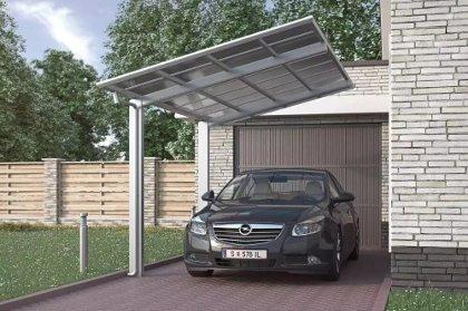 carport alu design airsoft a2 à toit monopente pour une voiture