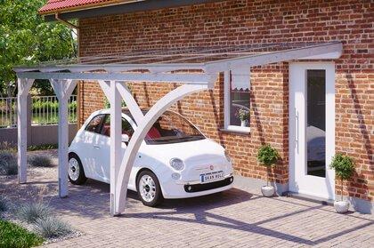 carport bois paretto adossé pour une voiture