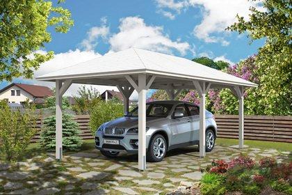 carport bois tetoita à toit à 4 pans