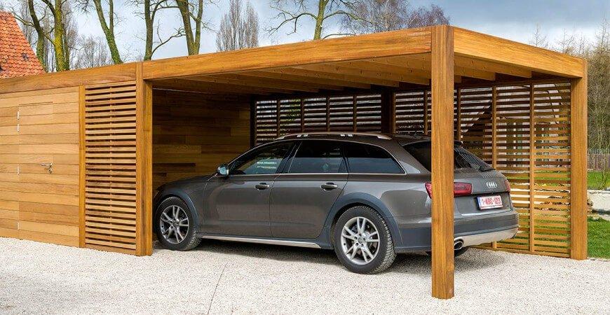 comparaison garage et carport bois